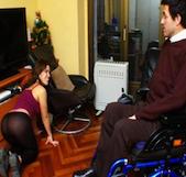 Dando placer a un discapacitado